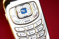 Slick phone. Close shot of a cell phone royalty free stock photo