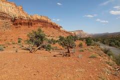 Slick Rock Divide in Capitol Reef National Park. Utah. USA Royalty Free Stock Image