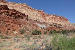 Slick Rock Divide in Capitol Reef National Park. Utah. USA Stock Image