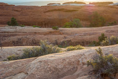 Slick Rock Layers in Devils Garden. Layers of slick rock along the Devils Garden Trail Royalty Free Stock Image