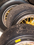 Slick tyres Royalty Free Stock Photo