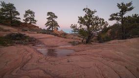 Slickrock del ` s dell'Utah alla luce di inverno di predawn Fotografia Stock Libera da Diritti
