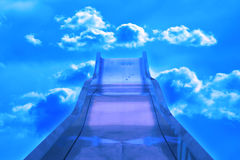 Slide. In the sky Royalty Free Stock Photography