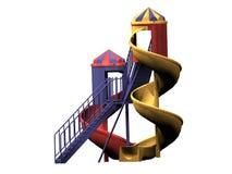 Slide. Computer image, slide 3D, isolated white background Stock Photo