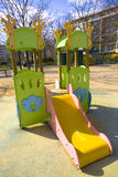 Slide. Playground equipment in a french park Royalty Free Stock Photos