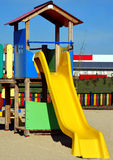 Slide. Playground zone for childs with one slide Royalty Free Stock Photos