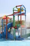 Slide in aquapark. Children's slide in the water park Stock Image
