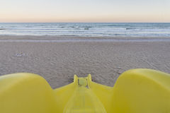 Slide on the beach. Royalty Free Stock Photo