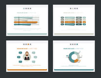 Slide business templates. Royalty Free Stock Photos