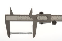 Slide caliper with screw Stock Photo