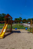Slide from a children playground outdoors Stock Photography