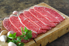 Slide chuck beef Royalty Free Stock Photo