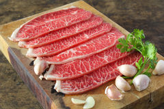 Slide chuck beef Stock Photos