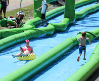 Slide the city giant waterslide Royalty Free Stock Image