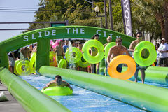 Slide the City - West Palm Beach Royalty Free Stock Photography