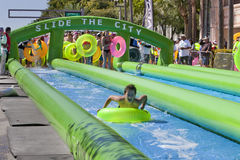 Slide the City - West Palm Beach Stock Photo