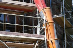 Slide on construction site royalty free stock images