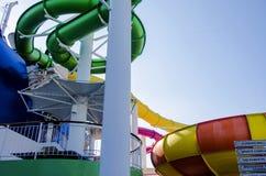 Slide on cruise Ship Stock Photo