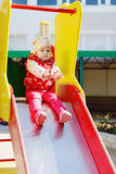 On slide Royalty Free Stock Photos