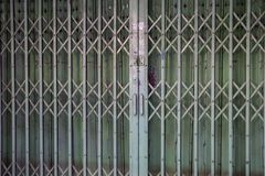 Slide door old style Bangkok Thailand. Original from China Royalty Free Stock Photos