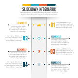 Slide Down Infographic Royalty Free Stock Photography