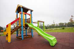 Slide on an empty playground Royalty Free Stock Images