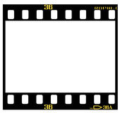 Slide film frame. 35mm transparency/slide/positive frame, with details and accurate dimension Royalty Free Stock Photos