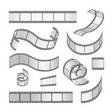 Slide film frame set, film roll 35mm. Media. Filmstrip negative  and strip,  vector illustration Stock Image