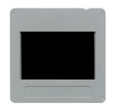 Slide film mount frame. Old plastic slide film mount frame on white Royalty Free Stock Photography