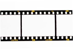 Slide film strips with empty frames Stock Photography
