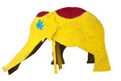 Slide in the form of an old yellow elephant Royalty Free Stock Photography