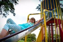 Slide Girl Stock Photo