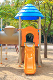Slide at Сhildren playground Multi - Unit Royalty Free Stock Photo