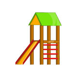 Slide house icon, cartoon style. Slide house icon in cartoon style isolated on white background. Entertainment for children symbol Royalty Free Illustration