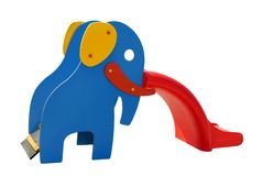 Colorful slide in an elephant's shape Royalty Free Stock Photos