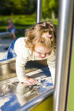 On the slide Royalty Free Stock Photography