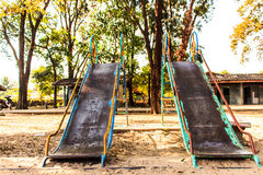 Slide on playground Stock Photos