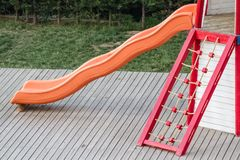 Slide of a Playground Stock Images