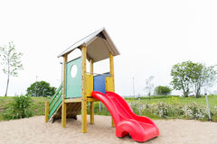 Slide on playground outdoors Royalty Free Stock Image