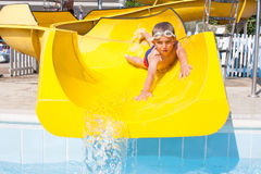 Slide in the pool Royalty Free Stock Photography