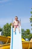 Slide in the pool Stock Photo