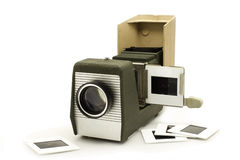 Slide Projector. The Old Equipment Stock Photos