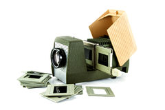 Slide Projector. The Old Equipment Stock Image
