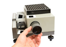 Slide projector isolated Royalty Free Stock Images