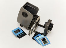 Slide projector for the slide show. Slide projector for a slide show of retro appliances Stock Photo