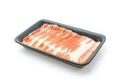 Slide of  raw pork  on white background . Slide of  raw pork  on white background Stock Photo