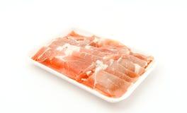 Slide of  raw pork  on white background . Slide of  raw pork  on white background Stock Image