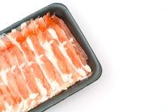 Slide of  raw pork  on white background . Slide of  raw pork  on white background Stock Photos