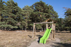 Slide in a recreational area Royalty Free Stock Photo