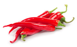 Slide red hot peppers Stock Photography